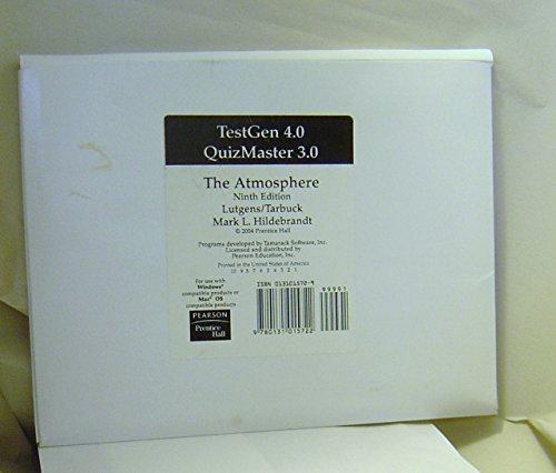 9780131015722: TestGen 4.0 QuizMaster 3.0 The Atmosphere Ninth Edition