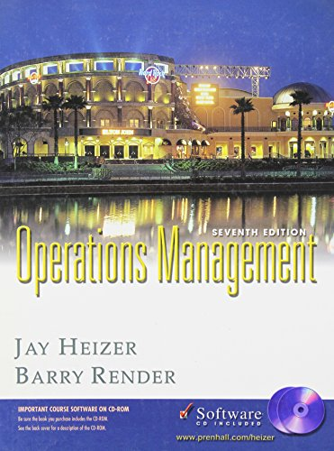 9780131016125: OPERATIONS MANAGEMENT: Seventh Edition
