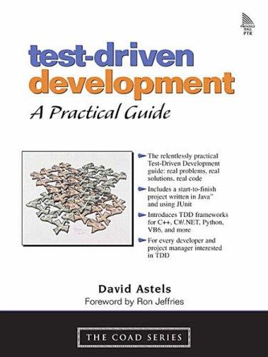 9780131016491: Test-Driven Development: A Practical Guide: A Practical Guide