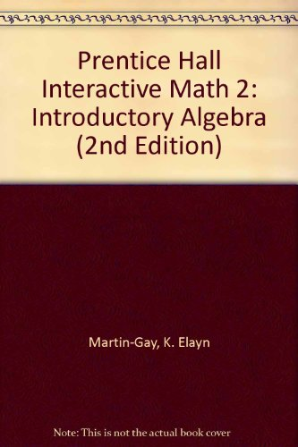 9780131020160: Prentice Hall Interactive Math 2: Introductory Algebra (2nd Edition)