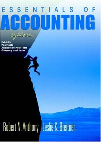 9780131025714: Essentials of Accounting and Post Test Booklet 8 (8th Edition) (No. 8)