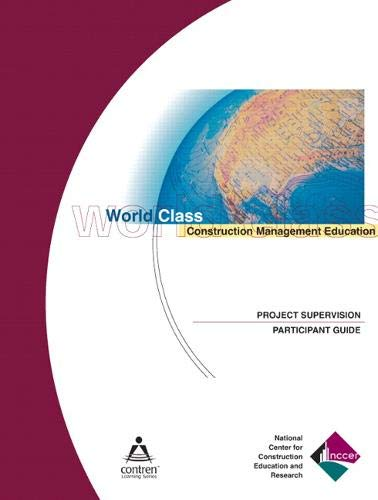 9780131035959: Project Supervision Participant Guide, 1e, Paperback (Contren Learning)
