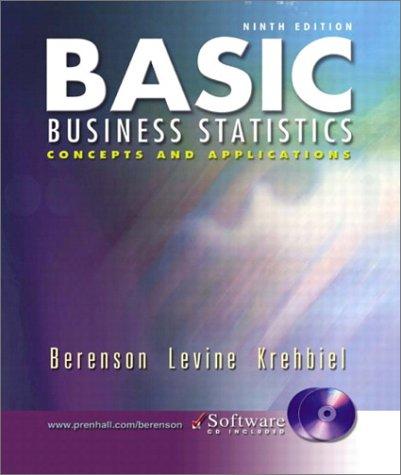 Basic Business Statistics and Student CD-ROM, Ninth: Mark L. Berenson,