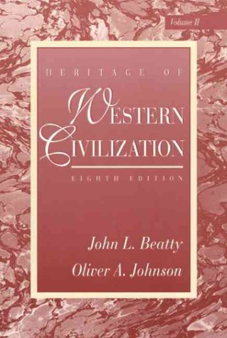 9780131048782: Heritage of Western Civilization, Vol. 2, Eighth Edition