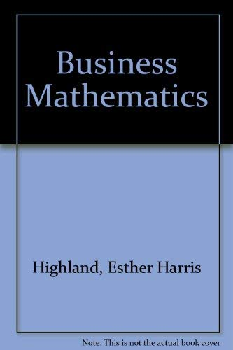 9780131051232: Business Mathematics