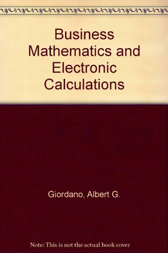 9780131051638: Business Mathematics/Electronic Calculations