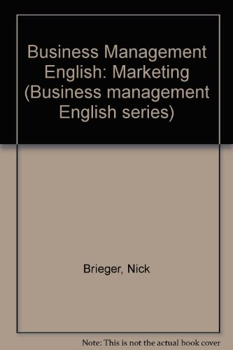 9780131057500: Business Management English: Marketing (Business management English series)