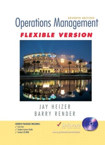 9780131058453: Operations Management Flexible Version Package: United States Edition