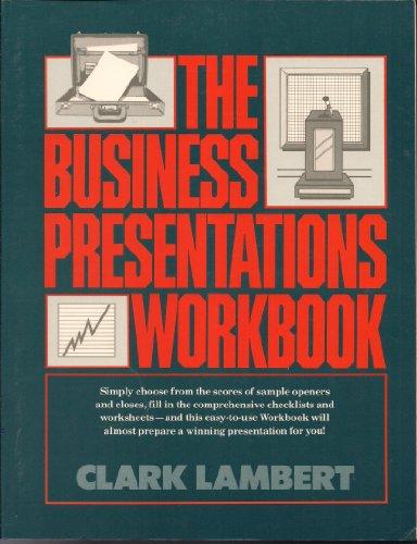 9780131075184: The Business Presentations Workbook