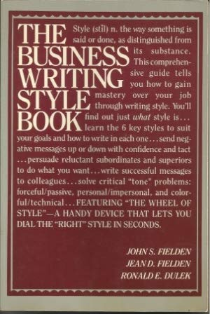 9780131082908: Business Writing Style Book