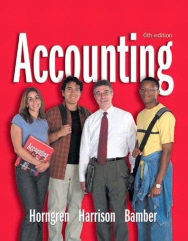 9780131088511: Accounting 1-26 and Integrator CD (6th Edition) (Charles T Horngren Series in Accounting) (Ch. 1-26)