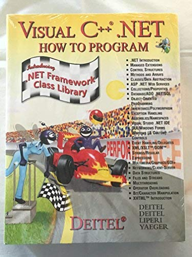 9780131089204: Visual C++.NET: How to Program( w/Student Cd & 6Cd Folder)