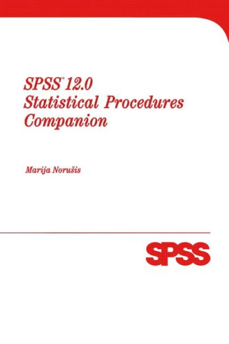 9780131096721: SPSS 12.0 Statistical Procedures Companion