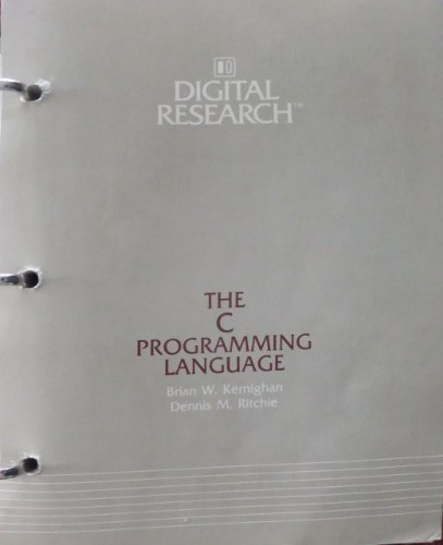 9780131099500: C Programming Language, Digital Equipment Corporation Edition