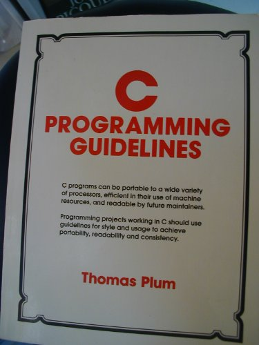 9780131099920: C Programming Guidelines