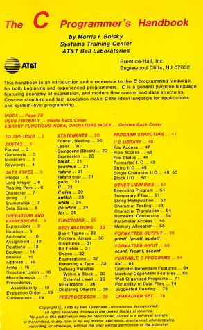 9780131100732: The C Programmer's Handbook