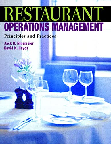 9780131100909: Restaurant Operations Management: Principles and Practices
