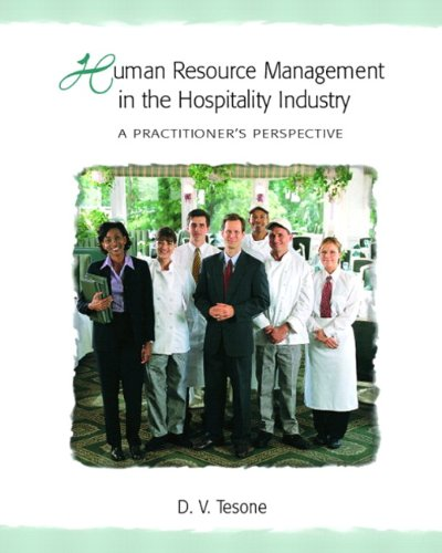 9780131100923: Human Resource Management in the Hospitality Industry: A Practitioner's Perspective