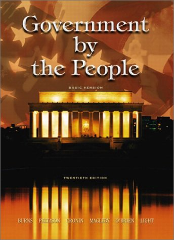 9780131101722: Government by the People, Basic Version, 20th Edition
