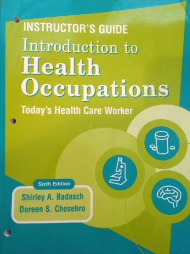 Instructor's Manual: Shirley Badasch