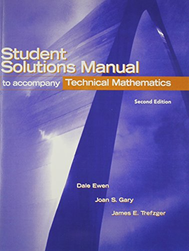 9780131102866: Student Solutions Manual