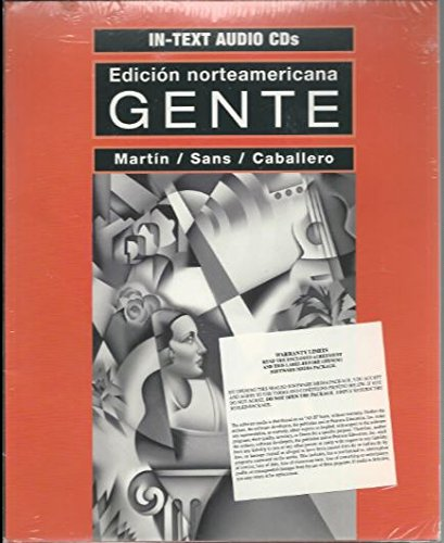 In-Text Audio Cds for Gente, Edicion Norteamemicana: Martin; Sans; Caballero