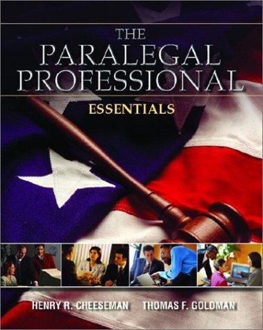 9780131104617: The Paralegal Professional: Essentials