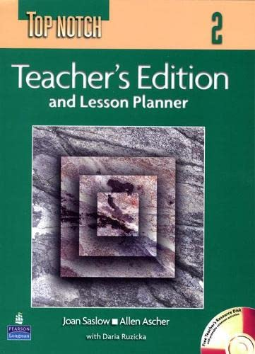 9780131104938: Top Notch 2 and Lesson Planner with Teacher's CD-ROM: Teacher's Edition with Daily Lesson Plans Level 2