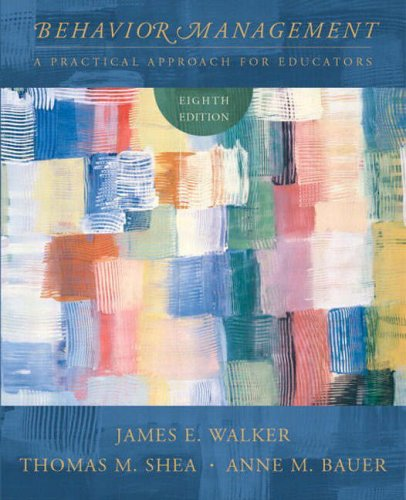 9780131105492: Behavior Management: A Practical Approach for Educators