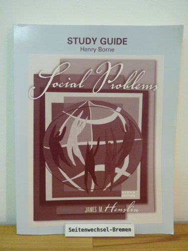 Study Guide Social Problems Sixth Edition: James M. Henslin