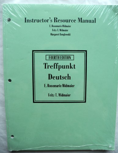 9780131106208: Instructors Resource Manual, Treffpunkt Deutsch