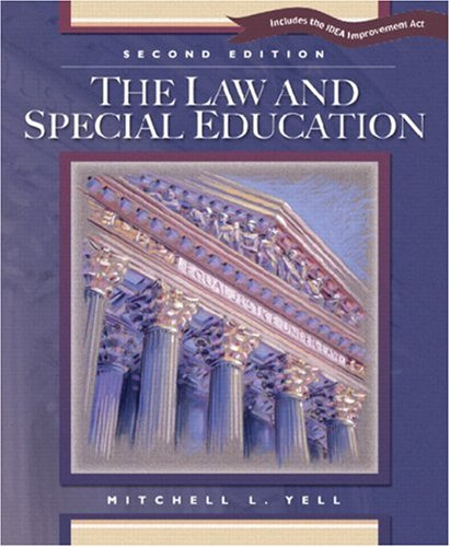 9780131106703: The Law and Special Education: Includes the IDEA Improvement Act
