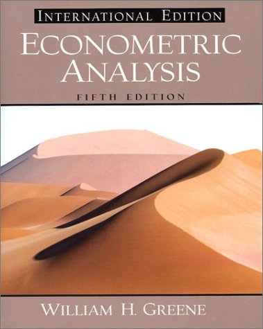 9780131108493: Econometric Analysis: International Edition