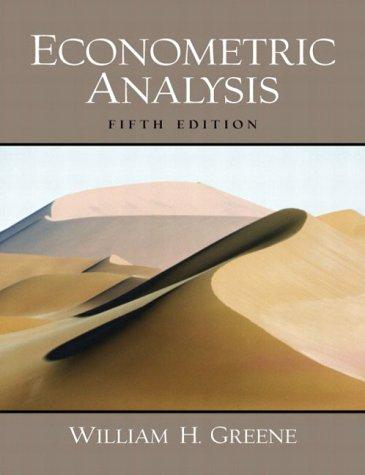 9780131108493: Econometric Analysis (International Edition)
