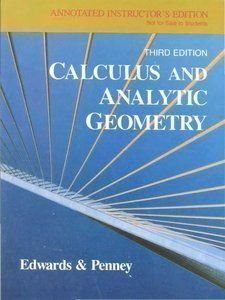 Calculus and Analytic Geometry: C. H. Edwards,