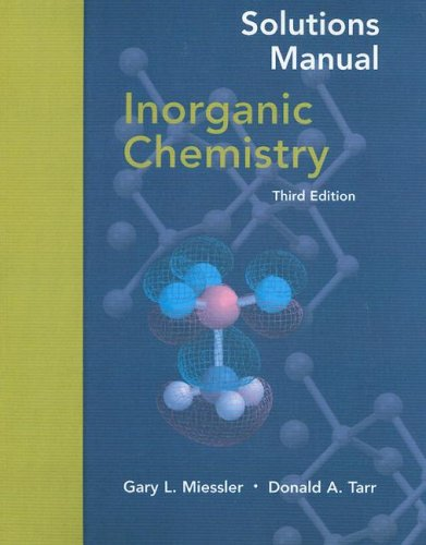 9780131112469: Inorganic Chemistry  (Solutions Manual)