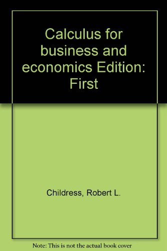 9780131114920: Calculus for business and economics