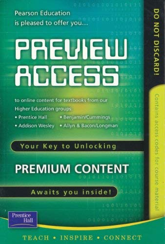 Preview Access Code Key Cd-rom: PRENTICE HALL, ADDISON