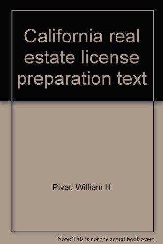 9780131117419: California real estate license preparation text