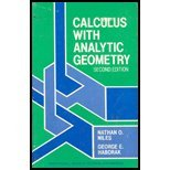 Calculus With Analytic Geometry (2nd Edition) (Prentice-Hall: Nathan O. Niles,