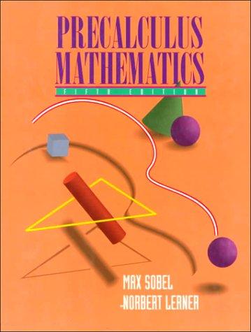 9780131120952: Precalculus Mathematics