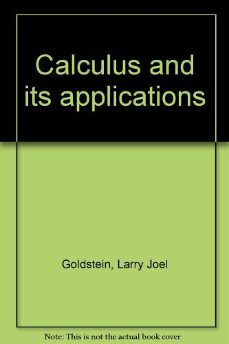 9780131121027: Calculus and its applications