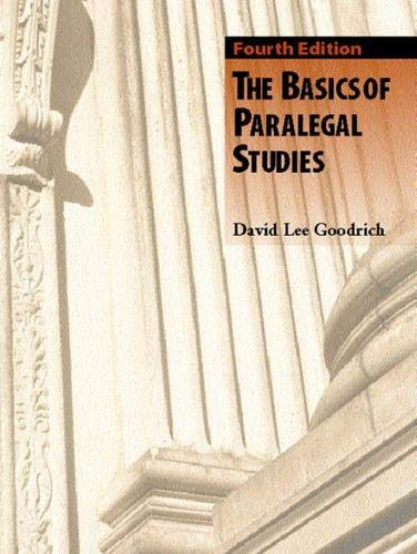 9780131121461: The Basics of Paralegal Studies