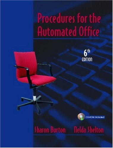 9780131121492: Procedures for the Automated Office (6th Edition)