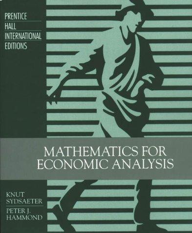 9780131121607: Mathematics for Economic Analysis