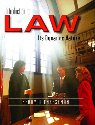 9780131123731: Introduction to Law: Its Dynamic Nature