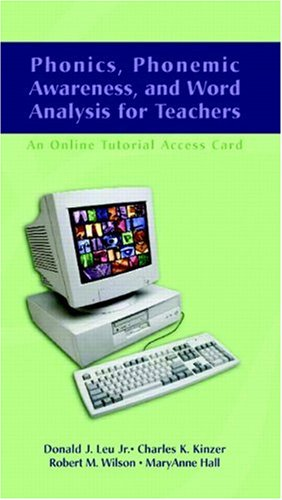 9780131124820: Phonics, Phonemic Awareness, and Word Analysis for Teachers: An Online Tutorial Access Card