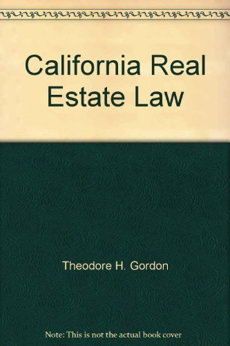 9780131125179: California real estate law: Text and cases
