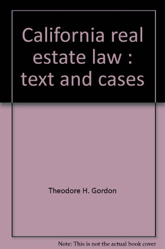 9780131125247: California real estate law: Text and cases (Prentice-Hall series in real estate)