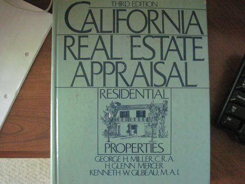 9780131125582: California Real Estate Appraisal: Residential Properties